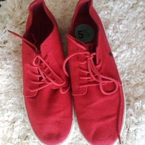 Polo Ralph Lauren red canvas sneakers